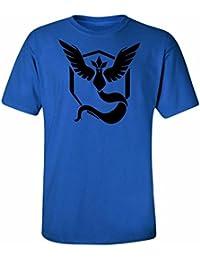 Pokemon Go Team Mystic Instinkt Pokeball T-Shirt Top-Grafik-T-Shirt