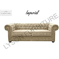 Imperial–estilo Chesterfield–sofá–tela