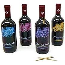 Lote de 20 Palilleros En Forma De Botella De Vino - Palilleros Detalles Bodas, Recuerdos