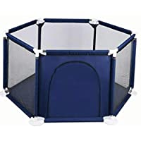 Baby lock and hexagon playground with navy blue side slot