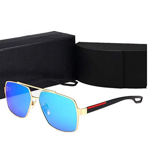 Yibaision Pilotenbrille Sonnenbrille für Herren und Damen UV400 Schutz Metall Rahmen Flieger Metallrahmen Verspiegelt Linse Sportbrillen(,B)