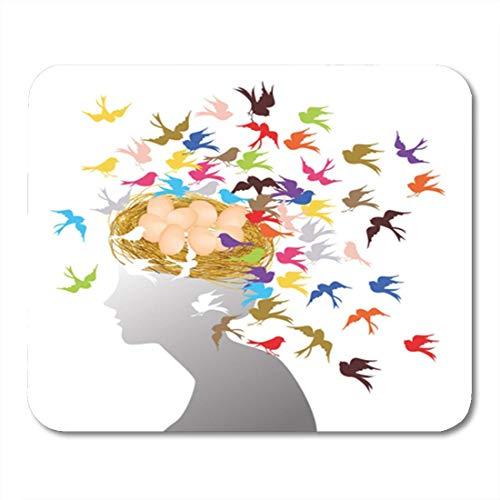Luancrop Tapis de Souris coloré nid d'oiseau et Cheveux de Mouche