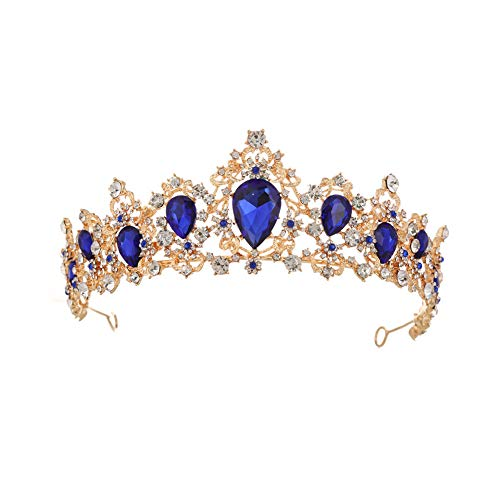 SONGpai Prinzessin Krone Kristall KöNigin Diadem Strass Braut Brautjungfern Tiara Metall Stirnband FüR ()