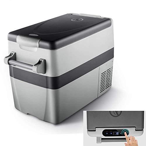Réfrigérateur de voiture Cool Box, glacière électrique portative 12V 240V avec compresseur 40L Réfrigérateur Congélateur Une glacière de réfrigération élevée peut être inférieure à la...