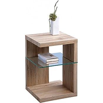 beistelltisch nachttisch domingo 40x60x40cm mdf dekor sanremo eiche sand k che. Black Bedroom Furniture Sets. Home Design Ideas