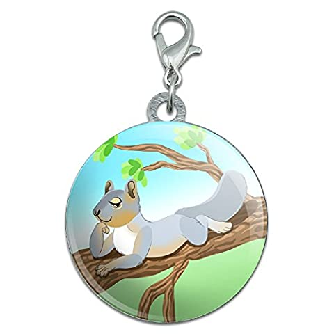 Sassy Squirrel Stainless Steel Pet Dog ID Tag