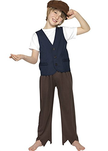 Kostüm Charles Dickens - Boys Childrens Victorian Poor Peasant Fancy Dress Costume Large Ages (10-12 years) by Boys Adventure