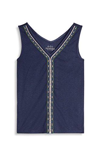 edc by Esprit, T-Shirt Donna Blu (Dark Blue)