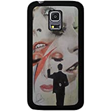 Funda Samsung Galaxy S5 Mini Cover Shell Stylish Makeup Design GlamRock style Musician David Bowie Phone caso Cover Great Singer Perfect