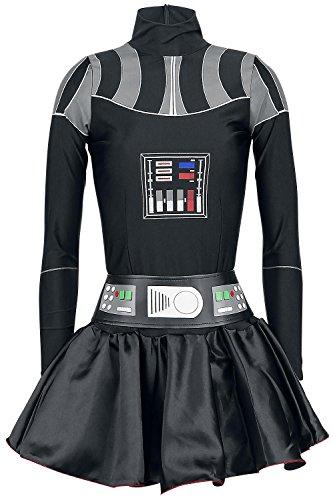 Star Wars Darth Vader Lady Dress Kostüm schwarz (Frauen Vader Für Kostüme Darth)