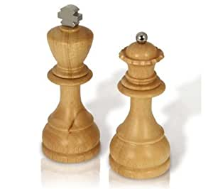 Salt and Pepper Mill King and Queen Chess Piece Shapes