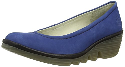 Fly London - Pump, Scarpe Col Tacco da donna Blu (Blau (BLUE/BLACK 042))