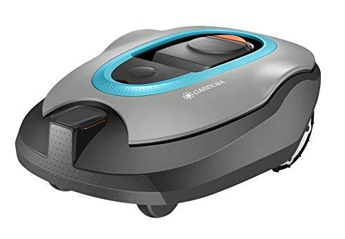 Gardena 04055-72robot tagliaerba SILENO + per prati fino a 1600M2, Nero, Antracite, Arancione, Turchese