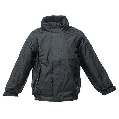 Regatta Boy's Kids Dover Jacket Regular Fit Jacket, Multicoloured (Black/Ash), 15-16 Years (Manufacturer Size:34)