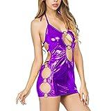 Beikoard Sexy Dessous, Frauen Mode d¨¹nnes Kleid Lackleder Hosentr?ger Rock Clubwear Stripper Sexy Kleid Leder Erotik Dessous Erotik Damen Set Hot
