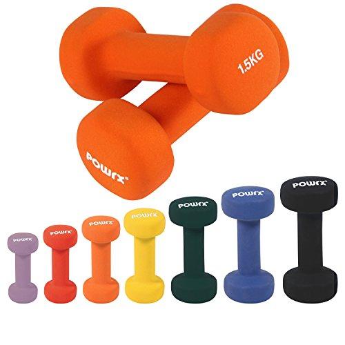 Manubri pesi in neoprene 3 kg set (2 x 1,5 kg / Arancione)