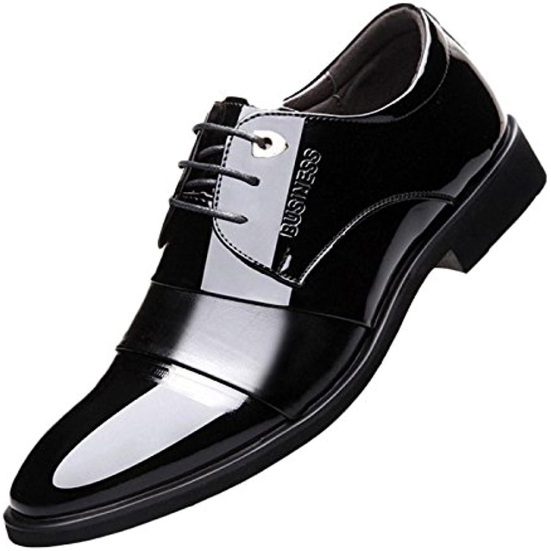 LQV Chaussures habill habill habill eacute;es pour Hommes Printemps et Automne Pointues avec des Chaussures en Cuir Verni - B07G6CFXLC - f39c15