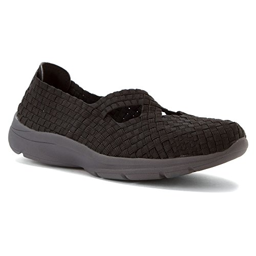 Easy Spirit Quest Womens Slip On Sneakers, Black, Size 6.0 Black/black