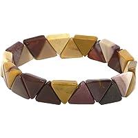 Mookait Armband Dreiecke, 1 cm breit im Samtbeutelchen/Modisches Edelsteinarmband preisvergleich bei billige-tabletten.eu