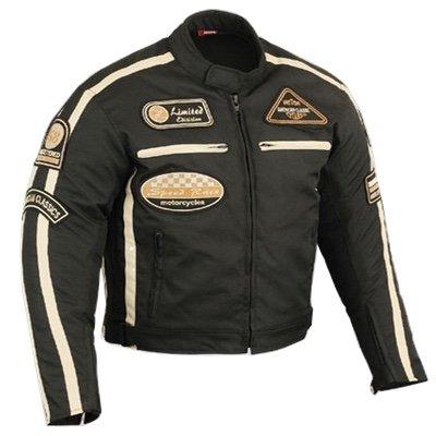 *Herren Motorradjacke Motorrad Jacke Cordura Textil Roller Quad Biker Touring Touren Schwarz Für Herren (L)*