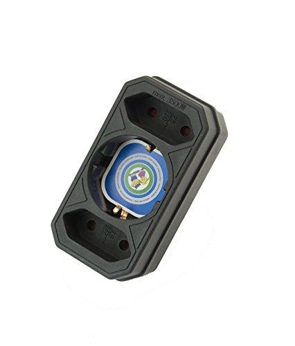 Multistecker Adapter Schuko Verteiler Mehrfachstecker (3-fach senkrecht schwarz)