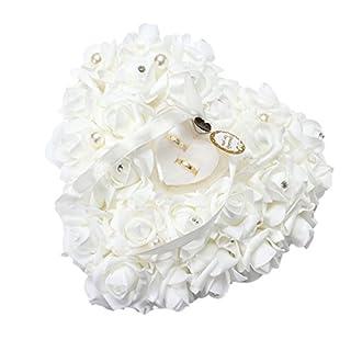 Yosoo Hochzeitsringkissen - 15x13cm