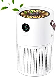 PRYMAX Air Purifier with HEPA Filter and Carbon Filters, 3 Speed Portable Air Cleaner Purifiers for Allergies,