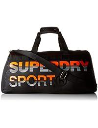Preisvergleich für Superdry Herren Linemanskatebarrel Rucksack, Mehrfarbig (Black/Hazard Orange), 45x30x15 Centimeters