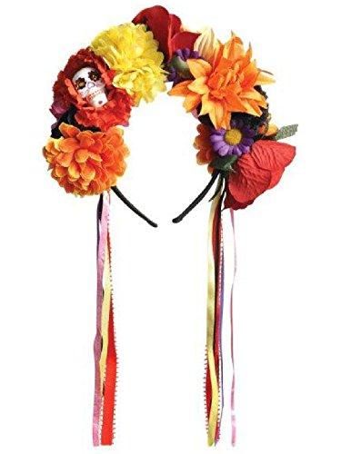 amscan Halloween Haarband HAARREIF Tiara Der Tag der Toten Verkleidung Kostüme