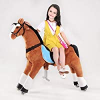 UFREE Horse Best Birthday Present for Boys. Action Pony Toy. Rocking horse. Large 44