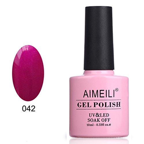 AIMEILI Esmalte De Uñas Soak Off UV LED Uñas De Gel - Maroon Shine (042) 10ml