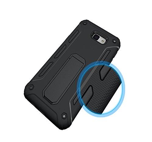 YHUISEN Galaxy J5 2016 Case, Cool Shockproof Rüstung Hybrid 2 In1 TPU und PC Rugged Dual Layer mit Kickstand Fall für Samsung Galaxy J5 2016 J510 ( Color : Blue ) Black