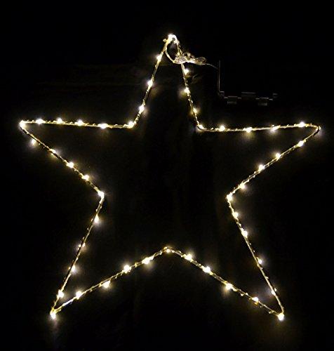 Fensterbild Stern 50 LED - warmweiß/mit Timer - Fenster Deko Silhouette beleuchtet Außen