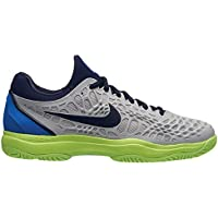 more photos b2a08 2aa68 Nike Men s Air Zoom Cage 3 Hc Tennis Shoes, Multicolour (Vast Grey Blackened
