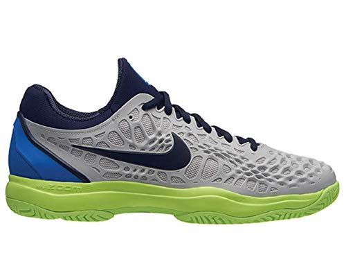 NIKE Herren Air Zoom Cage 3 Hc Tennisschuhe, Mehrfarbig (Vast Grey/Blackened Signal Blue 004), 42 EU