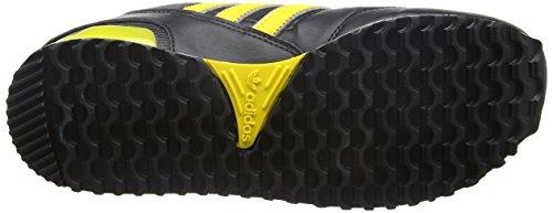 adidas Unisex-Erwachsene ZX 750 Turnschuhe Schwarz (Core Black/Eqt Yellow S16/Ch Solid Grey)