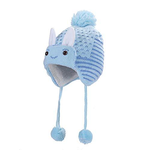 XXYsm Unisex Baby Mütze Beanie Gestrickte Baggy Warm Häkeln Winter Stricken Ski Hut Kaschmir Slouchy Kappe Hellblau