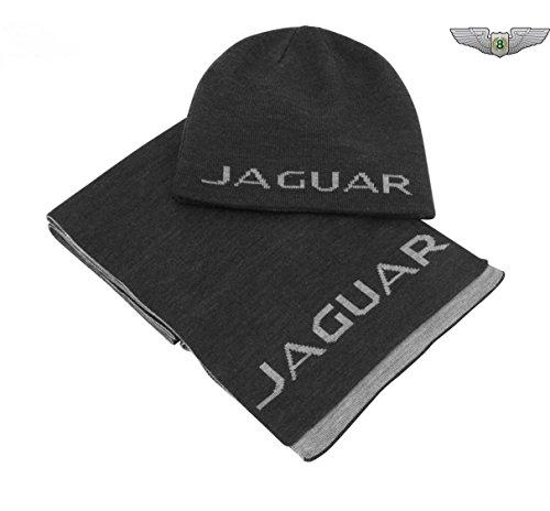 Jaguar Sammlung Waren Neu Original Hut & Schal Set 50JBGF347BKA