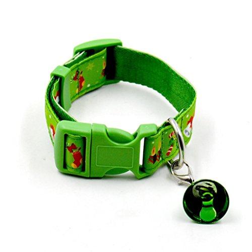 Zolimx Weihnachten Design Haustier Hund Halsband (L, Grün)