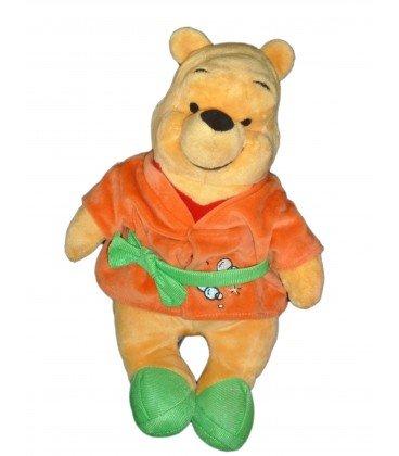 Peignoir Winnie - Doudou peluche WINNIE L'OURSON Peignoir orange vert