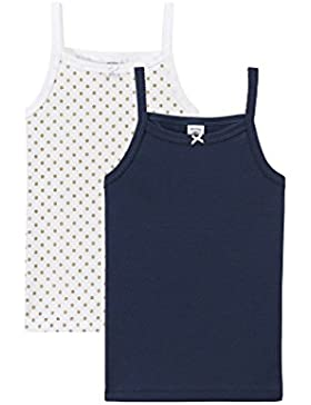 Petit Bateau Mädchen Unterhemd, 2er Pack