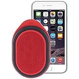 Ryght Pocket R481795 Enceinte nomade Bluetooth Outdoor/son très puissant 3Watts/micro intégré/longue autonomie/résistance à l'eau IP42/Housse incluse/Jack 3.5mm et câble USB/compatible avec Smartphone/tablette/ Ordinateur/ lecteurs MP3/MP4 Gris Berry