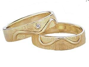 Unendlichkeit (Infinity) - für die Liebe des Lebens Eheringe, Trauringe, Verlobungsringe, Freundschaftsringe, Partnerringe Silber - Gelbgold oder Weißgold (Gelbgold 585)