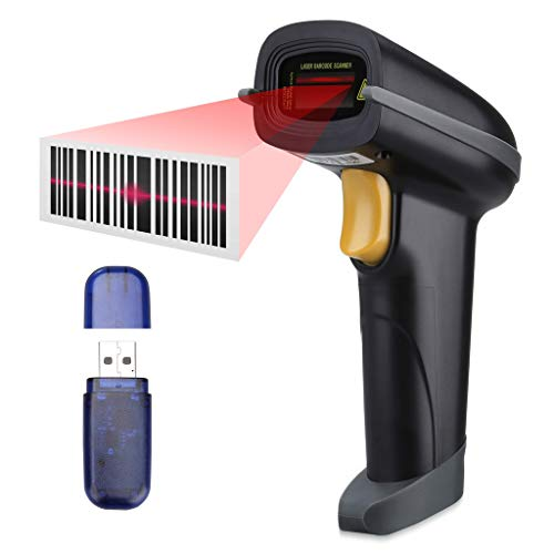 Escáner de Codigo de Barras, SLYPNOS - Escáner láser Bluetooth + 2.4G Receptor inalámbrico + USB...