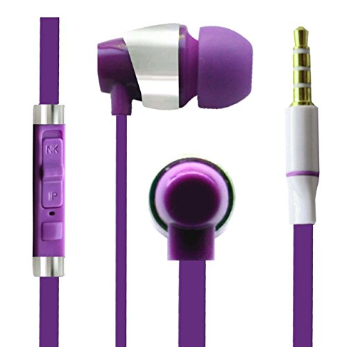 Hello Zone Sporty look and Comfort Fit Stereo Headset Handsfree Headphone Earphone with Mic 3.5 MM Jack for Panasonic Eluga Note -Purple  available at amazon for Rs.198