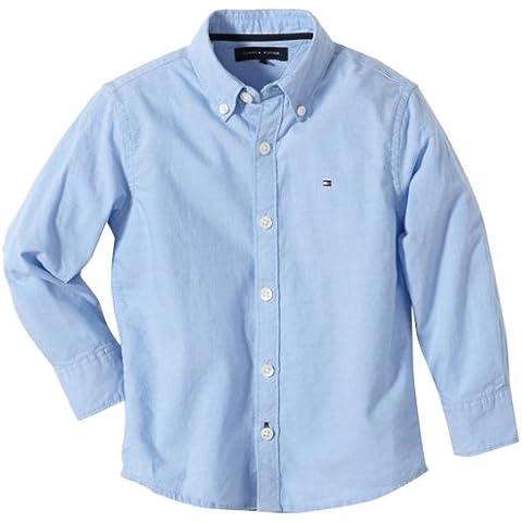 Tommy Hilfiger Solid Oxford Shirt L/S - Camisa con manga larga para niños