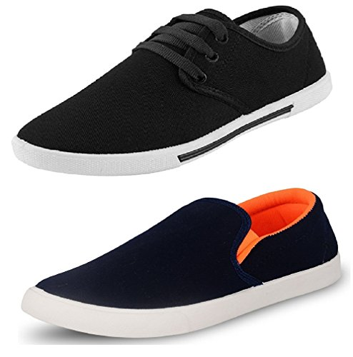 Chevit Men's Combo Pack of 2 Solid Sneakers With Loafers (Casual Shoes) CB-109+101-6