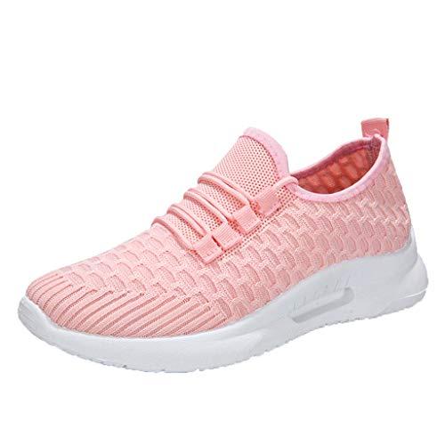 HDUFGJ Sneaker Damen Sommer Atmungsaktiv Bequem Leichtgewicht Laufschuhe Faule Schuhe Flache Schuhe Freizeitschuhe Fitnessschuhe Im Freien Turnschuhe