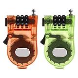 Enyu Einziehbare Fahrrad-Code-Schlösser Kombinationskabel Gepäck-Sicherheits-Passwort-Vorhängeschlösser