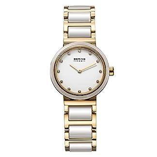 Bering Time 10725-751 – Reloj analógico de cuarzo para mujer con correa de acero inoxidable, color multicolor